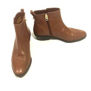 Coach Carmen Brown Leather Ankle Booties Size 7